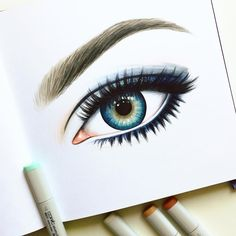 Auge zeichnen mit Copic Marker