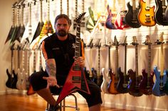 Andreas Kisser from Sepultura and his Jackson