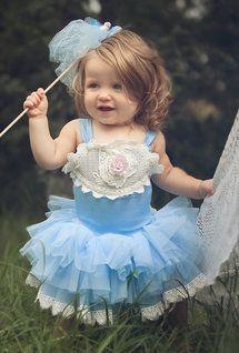 Dollcake Oh So Girly - China Doll Blue Tutu Dress