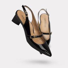 The Gigi - Black Patent. On sale for $425. #AnyiLu #heels #fashion #shoes