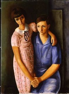 Zoucha et Louis Tas by Moise Kisling Polish-born French (mutualart) Georges Braque, Ayn Rand, Francoise Gilot, Art Eras, Neumann, Art Through The Ages, Picture Boxes, Moise, Best Portraits