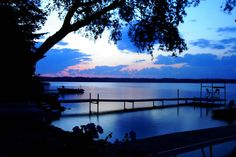 A Sunset Over Little Platte Lake in Benzie County
