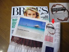 Queasy Beads are featured in Dec/Jan 2015 issue of BRIDES magazine!