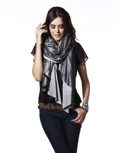 METALLIC CUTOUT WRAP WITH JERSEY by msochic