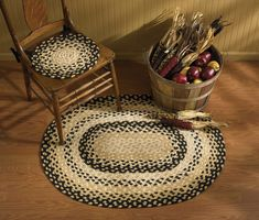 Cornbread Primitive Braided Rug – traditionell – Teppiche – andere U-Bahn – Alles … - braided rugs