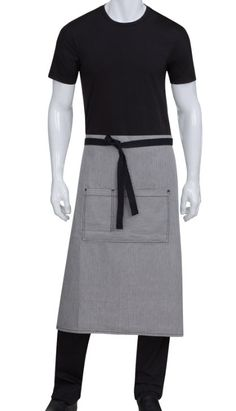 Great looking denim full length bistro apron, your servers and customers will love it! http://www.sharperuniforms.com/ 25