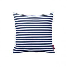 Angolo tessile Fodera per cuscino a righe - Bianco e blu Lovepromo