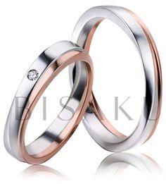 2551 Překrásné svatební prstýnky, které vás nadchnou jemně nepravidelným tvarem a překrásným spojením bílého a červeného zlata. Symfonie propojení dvou druhů zlata je podstatou designu, stejně jako vysoký lesk a jemná šířka, která je podpořena vyšším profilem prstenů. #bisaku #wedding #rings #engagement #fantasy #zlato #svatba #snubni  #prsteny Couple Rings, Wonderful Things, Dream Wedding, Bands, Wedding Rings, Engagement Rings, Dreams, Amazing, Jewelry