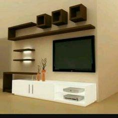 450570e33 Tv Unit Interior Design, Tv Unit Design, Tv Wall Design, Living Room Tv