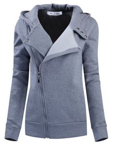 This jacket is so much cuter than a regular hoodie! Womens Slim Fit Zip-up Hoodie Jacket