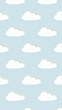 Blue white clouds iphone background lock screen phone wallpaper Erasable (Vinyl) Wallpapers: It is