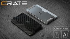 Fully modular RFID blocking, functional and versatile wallet Made In USA Titanium Wallet, Edc, Clever Gadgets, Money Saving Mom, Best Wallet, Rfid Wallet, Money Clip Wallet, Shops, Minimalist Wallet