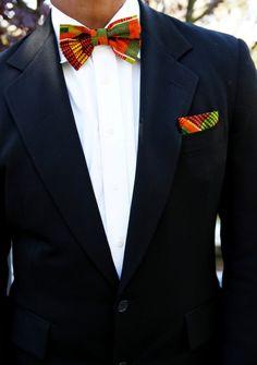 Kente Bow Tie SET - Menogu Designs
