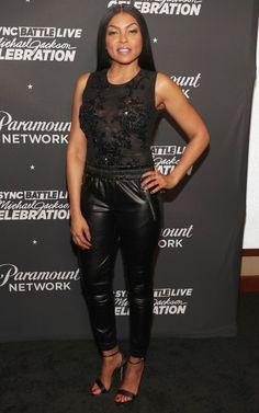 Taraji P. Henson in Cushnie et Ochs Celebrity Red Carpet, Celebrity Style, Fall Outfits, Casual Outfits, Taraji P Henson, Girl Fashion Style, Black Sheer Top, Black Girls Rock, Red Carpet Looks