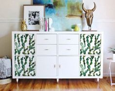 Kallax Expedit Ikea Grüner Kaktus Boho Stil Tropische Exotische Removable Wall Decalsikea Furnituregreen