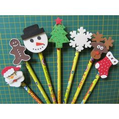 Christmas Pencil Toppers | Fun Craft Idea