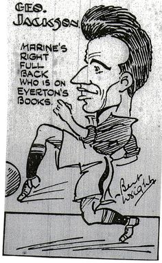 George Jackson, drawing by Bertie Wright, a Cartoonist fron the Liverpool Evening  Express