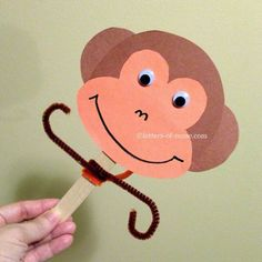 Paper Plate Monkey Craft - I think I could use this craft to teach ...