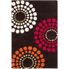 Safavieh Handmade Soho Celeste Brown New Zealand Wool Rug (2' x 3') (SOH788B-2), Size 2' x 3' (Cotton, Geometric)