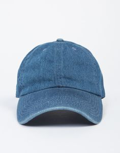 Nothing more laid back than a Sporty Jean Baseball Cap. This baseball cap features a curved bill, flexible fit, and an adjustable back. The fabric is a jean material. We love it when paired with a sim