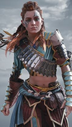 Fantasy Characters, Female Characters, Arte Assassins Creed, Horizon Zero Dawn Aloy, Dragon Rider, Fantasy Warrior, Warrior Princess, Badass Women, Film Serie