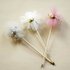 Glitter and tulle wands by Atsuyo et Akiko.  #kids #access #dressup #gifts
