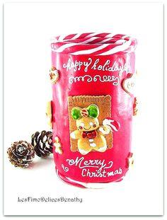 Pot à crayons Le Noël gourmand des Gingerbreads : Accessoires de maison par lesfimodelicesdenathy