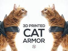 Cat Armor, 3d Printing Diy, 3d Printer Designs, Plush Pattern, 3d Prints, I Cool, Geek Girls, Go Shopping, Cool Cats