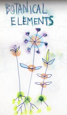 botanical elements: roots.