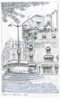 Pencil and Marker on Cottonwood sketchbook, 2015