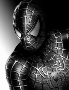 Imagenes de spiderman negro latino hombre ara a - Black and white spiderman wallpaper ...