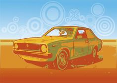 Illustration: a roasted car. #hotsnow #design