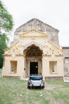 Photo by bodafilms.es the Church facade of Monastery La Cartuja de Cazalla, during one of the weddings we organise, April 2014.