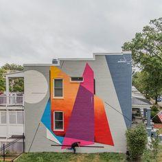 Remi Rough in Washington DC Office Mural, Garden Mural, Backyard Garden Design, A Level Art, Mural Wall Art, Street Art Graffiti, Street Artists, House Painting, Cartoon Drawings