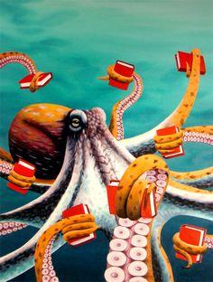 Octopi love books.