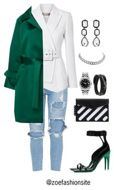 """Untitled #608"" by zoefashionsite ❤ liked on Polyvore featuring Michael Kors, Smarteez, Off-White, Rolex, Yves Saint Laurent and AMBUSH"