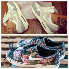 Nike Air and Pixelated floral