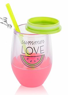 Tanana Summer Iced Drink Short Cup with lid & straw Cold Drinks, Beverages, Acrylic Tumblers, Summer Patterns, Acrylic Material, Sweet Tea, Summer Of Love, Strong, Wall