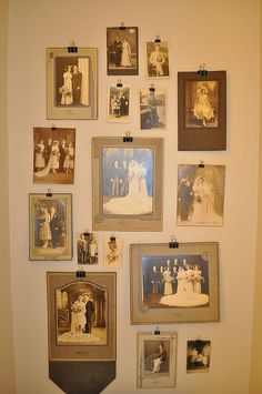 You could use wedding photos from all of your families over the generations as decorations for the gift table or somwhere else!