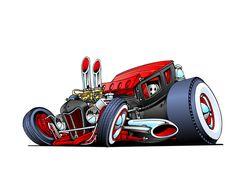 rat rods cartoons | Rat rod#1