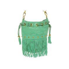 Cute Mint Green Handbag - Fringe Bag - $48.00 ($48) ❤ liked on Polyvore