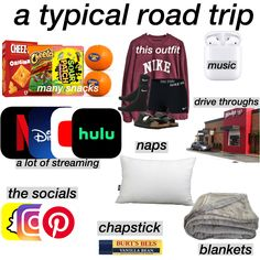 Road Trip Checklist, Travel Packing Checklist, Road Trip Packing List, Travel Bag Essentials, Travel Necessities, Road Trip Essentials, Road Trip Hacks, Packing Lists, Road Trippin