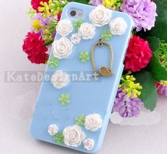 iphone 4s case, flowers iphone 5 cases iphone cover skin iphone 4 case - handmade iphone 4 cases
