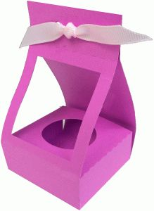 Silhouette Design Store: Cake Pop/chocolate Box - Her Crochet Cupcake Packaging, Flower Packaging, Flower Box Gift, Flower Boxes, Flowers, Milk Carton Crafts, Silhouette Online Store, Lavender Bags, 3d Paper Crafts