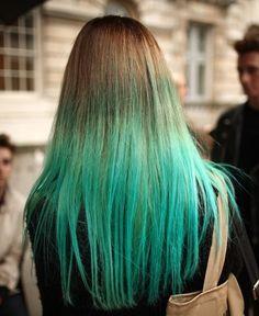 Beautiful colours- Blue dip-dye