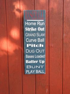 Baseball Wood Sign Boys Room Wooden Sign by leapoffaithsigns