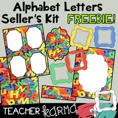 ABC time!  FREE seller's kit with graphics includes just about everything you…