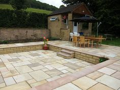 Marshall's Fairstone Sawn Steps & Indian Sandstone by Chris Hallinan