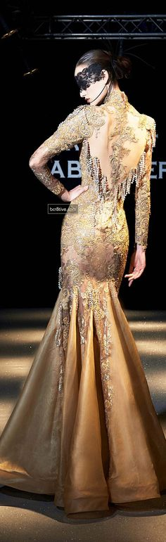 Evening gown, couture, evening dresses, formal and elegant Robert Abi Nader SS 2013