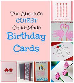 The 23 cutest homemade birthday cards for kids to make!  Such sweet and thoughtful keepsakes for Grandma, Grandpa, Aunts or Uncles.  And they are super easy too!